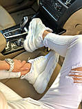 Кроссовки женские Versace Chain Reaction в стиле Версаче чейн реакшн БЕЛЫЕ (Реплика ААА+), фото 5