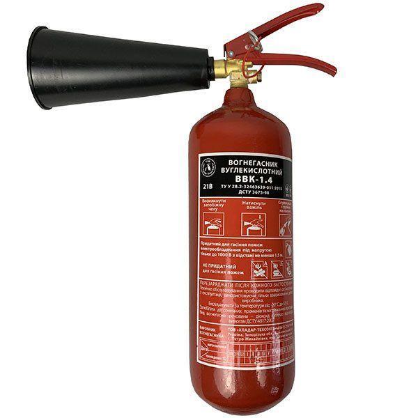 Огнетушитель углекислотный ОУ-2 (ВВК-1,4) 2кг. с сертификатом. Пожтехника