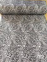 Портьєрна тканина сіра з блиском шириною 1.50 м /Портьерная ткань серая с блеском шириной 1.50 м., фото 1