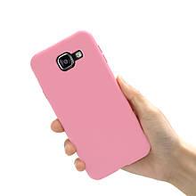 Чохол Style для Samsung A5 2016 A510 A510H бампер матовий Рожевий