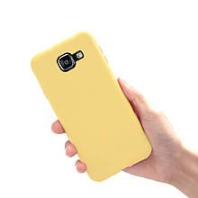 Чохол Style для Samsung A5 2016 A510 A510H бампер Жовтий матовий