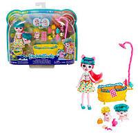 """Игровой набор Enchantimals """"Банный день"""" кукла свинка Пети Пигги mattel GJX35"""
