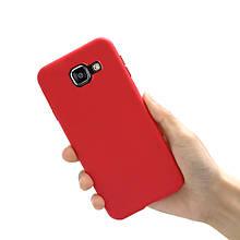 Чохол Style для Samsung A5 2016 A510 A510H бампер матовий Червоний