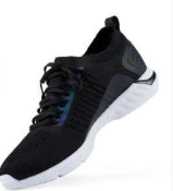 Кроссовки мужские черные 90 GoFun shadow ultra light running shoes size 44 black