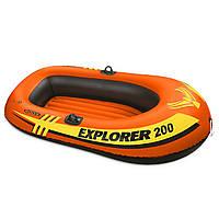 Лодка надувная Intex 58330 EXPLORER 200 на 2 человека Красный int58330, КОД: 110910