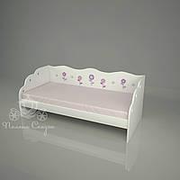 """Кровать детская декорированная """"Цветочная поляна"""""""