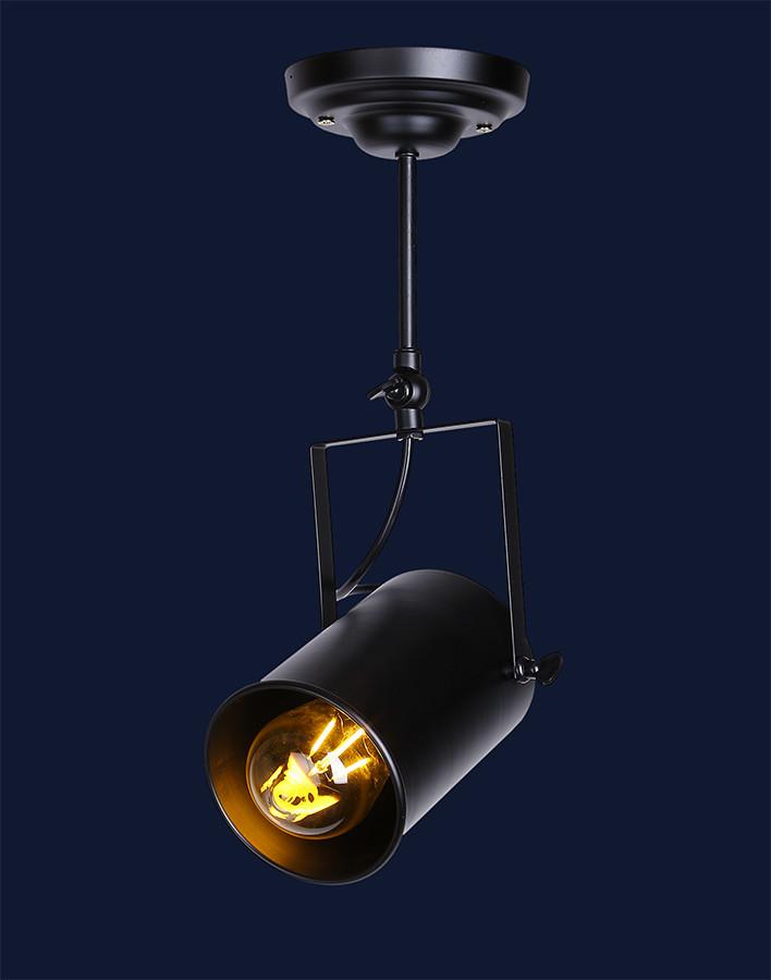 Стельовий світильник накладної 7521208A-1 BK