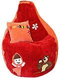 Бескаркасное кресло мешок груша Маша и медведь детский пуф, фото 2