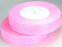 Лента из органзы розовая 2см ЛШ20-6