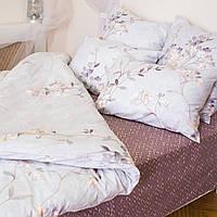 Комплект постельного белья евро сатин (набір постільної білизни європейський), фото 1