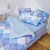 Комплект постельного белья полуторный 1.5 спальный сатин (набір постільної білизни півтораспальний)