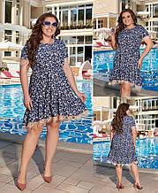 Воздушное летнее платье из турецкого софта,размеры:50,52,54,56-58.