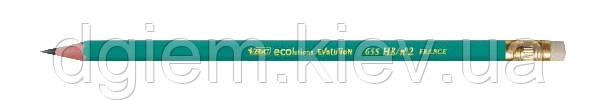 Карандаш графитовый BIC ЕВОЛЮШИН 655HB с ластиком