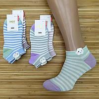 Носки женские короткие деми УЮТ М-03 3D тучки socks хлопок 36-41р.бесшовные с двойной пяткой ассорти 20008628
