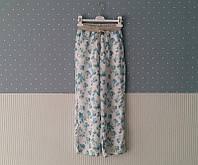 Штани для дівчинки 152 см (11-12 years) білий в квітки і листки To be too 55311