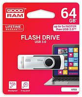 Модуль FD 64GB GoodRam Twister UTS3 USB 3.0 Black/Silver (UTS3-0640K0R11), Write - 60MБ/с, Read - 20