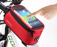 """Велосипедная сумка Roswheel 6"""" велосумка для смартфона на раму L Red"""
