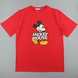 Червона яскрава легка футболка з принтом, жіноча оверсайз, фото 3