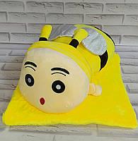 Игрушка Пчелка внутри с пледом 105х155 см
