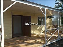 Модульний будинок з терасою // Затишний дачний будинок