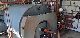 Паровой котел КОВС-300 газовый  с горелкой Ecostar
