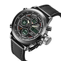 Наручные мужские армейские часы Amst Watch Черные! Акция