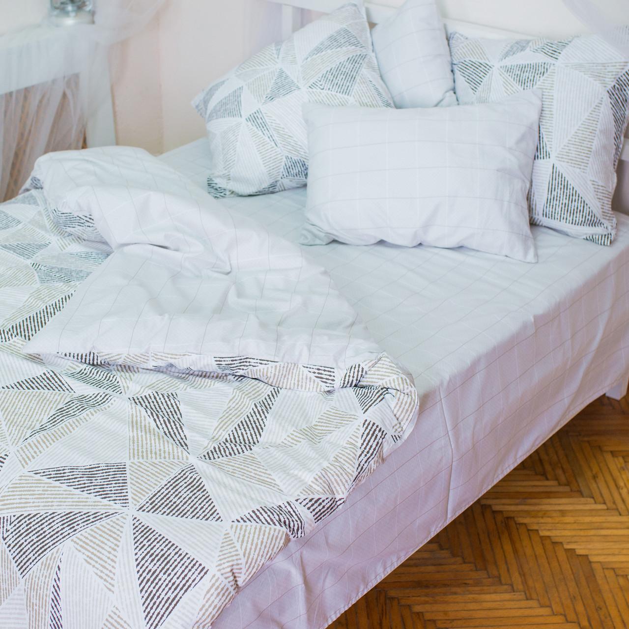 Комплект постільної білизни полуторний 1.5 спальний сатин