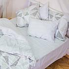 Комплект постільної білизни полуторний 1.5 спальний сатин, фото 4