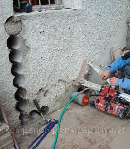 Алмазна різка прорізів в стінах