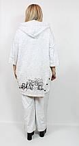 Женский костюм из хлопка  Darkwin (Турция) 62 - 66 р серый, фото 2