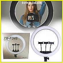 Кольцевая лампа c пультом на штативе,сумкой ZB-F348 45см.Кольцевой свет для видео,фото.Светодиодная лед лампа