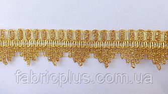 Кружево люрекс золото 4 см.