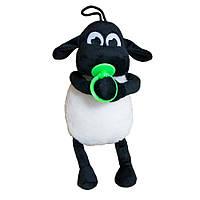 Мягкая игрушка Kronos Toys Барашек Тимми 36 см с зеленой соской zol512-1, КОД: 120721