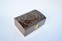 Шкатулки деревянные с резьбой 16х10,5, фото 1
