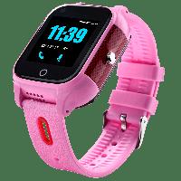 Смарт часы детские JETIX DF100 c видеозвонком и защитой IP67 Pink (40002)