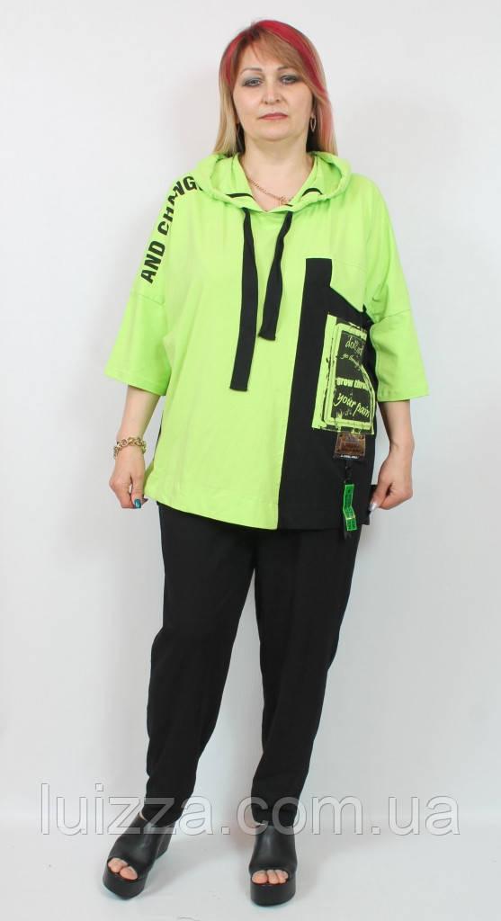 Женский костюм из трикотажа  Darkwin  (Турции) 58 - 66 р двухцветный