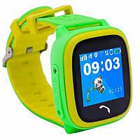 Детские часы-телефон JETIX DF25 LightStrap с GPS валогазащитой IP67 + Защитное стекло Green (3532965)
