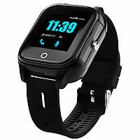 Смарт часы детские JETIX DF100 c видеозвонком и защитой IP67 Black (40001)