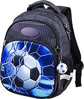 Ортопедический рюкзак в школу Winner One для мальчика Футбол 34х25х16 см Черный для первоклассника (1709)