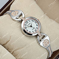 Часы женские наручные Sputnik 995770 Silver-Gold/Silver-Gold/White
