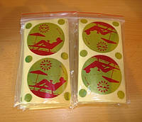 Стикини для солярия( накладки на грудь+родинки) 100шт/уп.
