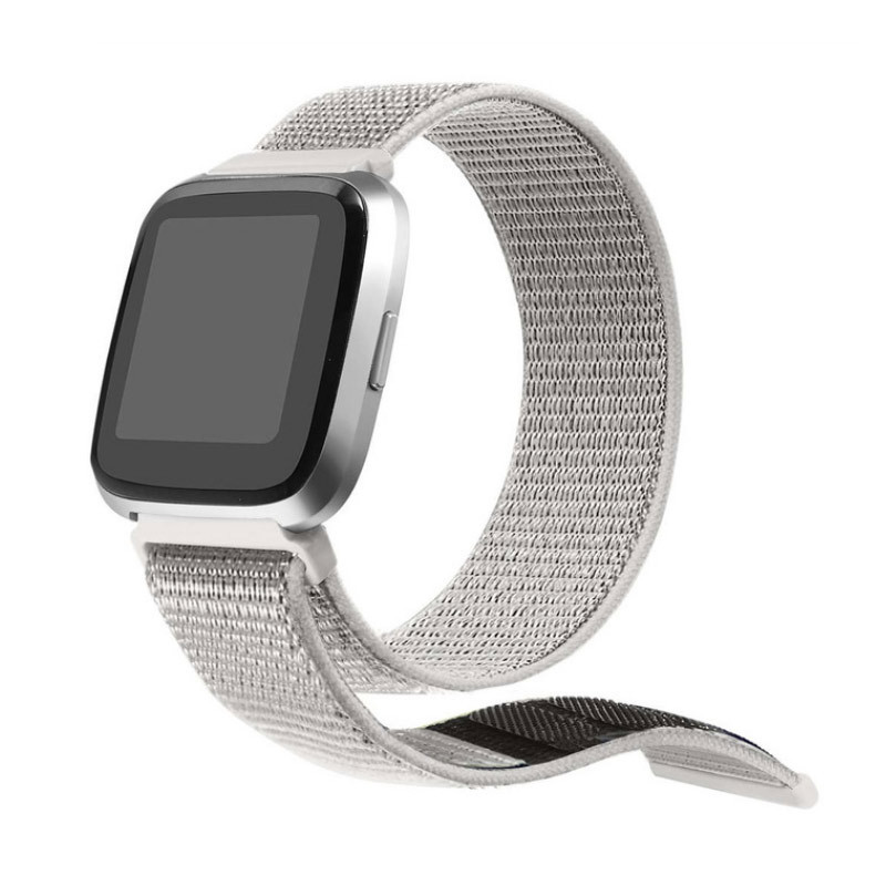 Нейлоновий ремінець Primolux для годин Fitbit Versa / Versa 2 / Versa Lite - White