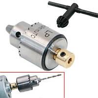 Мини патрон сверлильный 0.3-4мм под 3.17мм JT0 вал для микродрели PCB