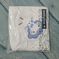Махровое полотенце с уголком+варежка для новорожденного, Турция