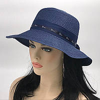 """Шляпа женская """" Диор """" (синяя)"""
