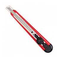 Нож INTERTOOL с металлической направляющей под лезвие 9 мм