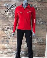 Женский спортивный костюм Nike красный. Жіночий спортивний костюм Nike червоний