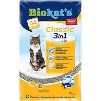 Biokats Classic 3in1 комкующийся наполнитель для кошачьих туалетов с крупными гранулами, 10л