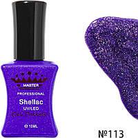 Гель-лак Master Professional Фиолетовый с блестками 10 ml №113