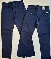 Школьные брюкиподростковые для мальчика 10-13 лет, тёмно-синего цвета